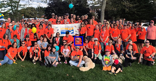 copyright clearance center team at 2019 care dimensions walk for hospice