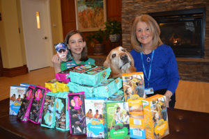Care Dimensions Walk for Hospice girl scout cookie donation at Kaplan Family Hospice House
